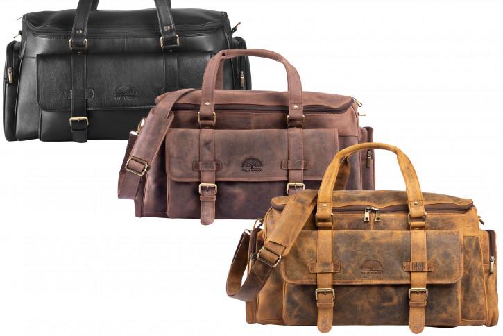 WILD WOODS® Traveltasche Reisetasche Sporttasche Universaltasche Ledertasche
