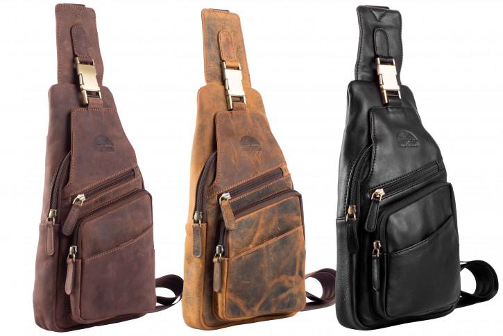 WILD WOODS® Body Bag Schultertasche Brusttasche Crossbody Damentasche