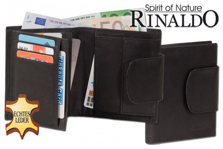 Rinaldo® Ladies leather purse with wide outdoor bar