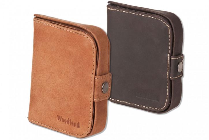 Woodland® Schüttelbörse mit Geldscheinfach aus naturbelassenem, weichem Büffelleder