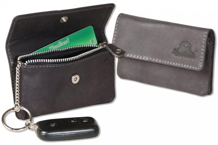 Woodland® Auto-Schlüsseltasche aus naturbelassenem Büffelleder in Anthrazit