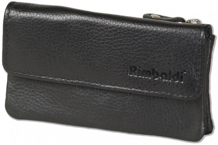 Rimbaldi® Schlüsseltasche für den Autoschlüssel aus hochwertigem Rind-Nappaleder in Schwarz
