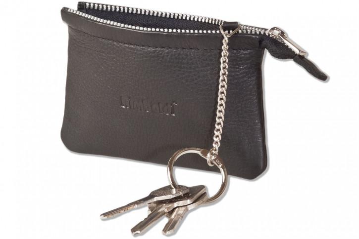 Rimbaldi® RFID CAR PROTECTION Schlüsseltasche für den Autoschlüssel und normale Schlüssel mit besonders hochwertigem Rindsleder in Schwarz