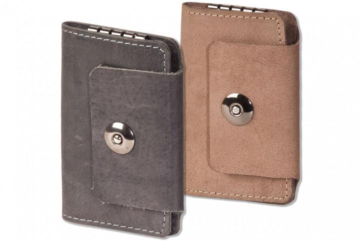 Woodland® Leder-Schlüsseltasche für 4 Schlüssel aus naturbelassenem, geölten Büffelleder