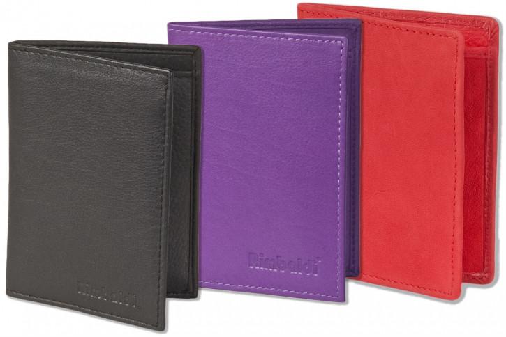Rimbaldi® Ausweis-/Kreditkartenetui für 6 Kreditkarten und 4 Ausweise aus weichem, naturbelassenem Rindsleder