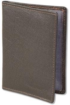 Rimbaldi® Lederetui für den alten Personalausweis und den KFZ-Schein aus weichem Nappa-Rindsleder in Dunkelbraun
