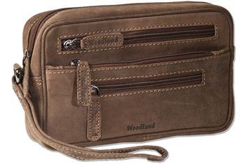Woodland® Praktische Handgelenktasche für den Mann aus naturbelassenem Büffelleder