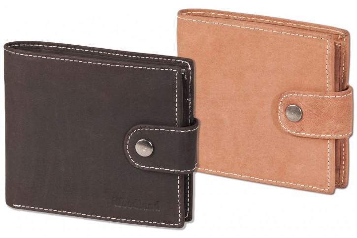 Woodland® Multibag 3 in 1: Geldbörse - Brustgeldbörse - Gürteltasche, alles in einem! Aus weichem, naturbelassenem Büffelleder