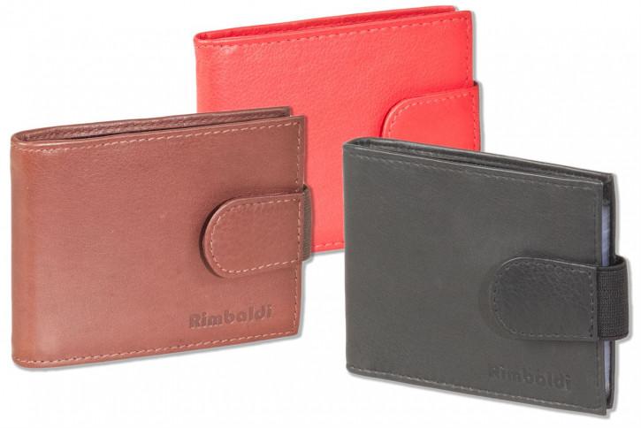 Rimbaldi® Kreditkartenetui für 14 Kreditkarten oder 26 Visitenkarten aus weichem, naturbelassenem Rindsleder