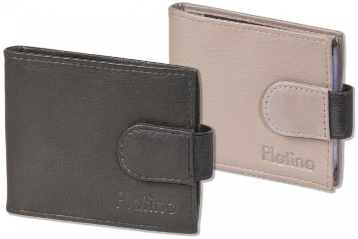 Platino - Kreditkartenetui für 18 Kreditkarten oder 38 Visitenkarten aus weichem, naturbelassenem Rindsleder