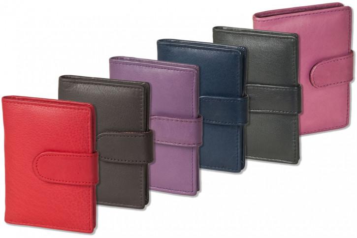 Rinaldo® XXL-Kreditkartenetui für insgesamt 19  Kreditkarten aus weichem, naturbelassenem Rindsleder