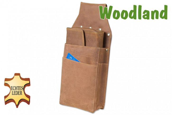 Woodland® Profi Kellnerbörsen-Holster aus weichem, naturbelassenem Büffelleder