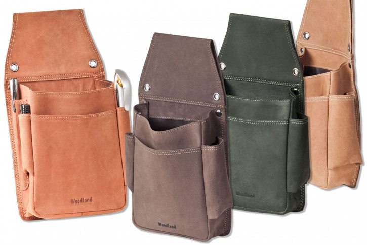 Woodland® - Very robust professional waiter wallet holster made of soft, natural buffalo leather
