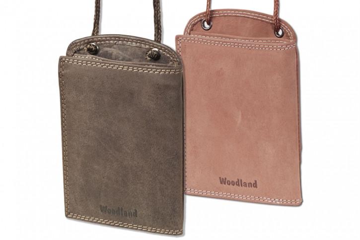 Woodland® Praktischer Brustbeutel aus weichem, naturbelassenem Büffelleder
