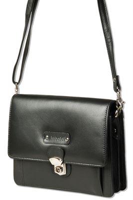 Rimbaldi® Moderne Universaltasche aus hochwertigem Rind-Nappaleder in Schwarz