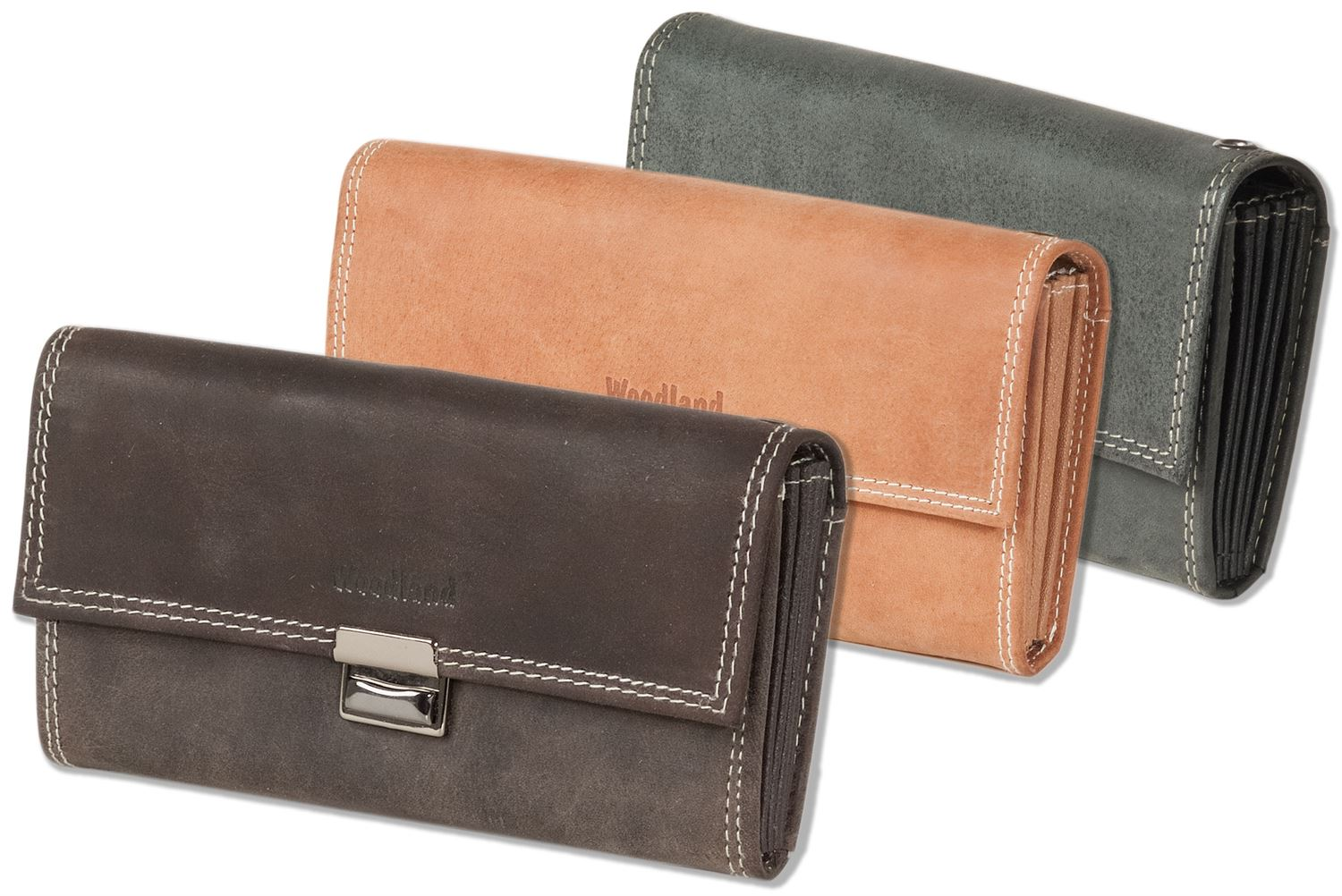 7efa284d07d2 Woodland® - Waiter wallet with reinforced base in the large coin  compartment made of natural, soft buffalo leather