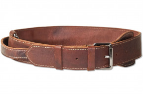 Woodland® Full buff-leather dog collar for very large dogs with 55-70 cm neck circumference in dark-brown