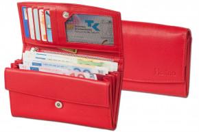 Platino - Große Damengeldbörse in First Class-Qualität mit vielen Fächern und aus feinstem, naturbelassenem Rindsleder in Rot