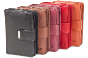 Rimbaldi® Kompakte Damengeldbörse mit besonders viel Platz aus naturbelassenem Rindsleder