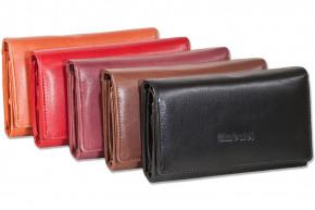 Rimbaldi® Damengeldbörse mit besonders viel Platz aus naturbelassenem Rindsleder