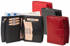 Rinaldo - Ladies leather purse with lots of pockets made ??of natural, soft calf leather in red