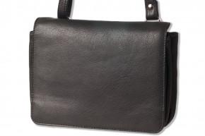 Platino - Luxus Damenhandtasche aus feinstem, weichem Rindsleder in Schwarz