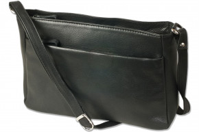 Platino - Luxury women's handbags made of the finest untreated, soft leather with Black