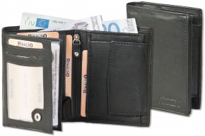 Rinaldo® Portrait bark leather wallet in soft goat leather in black