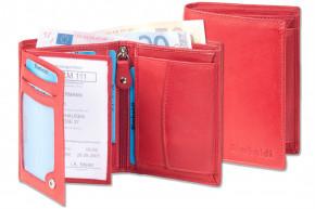 Rimbaldi® Riegelgeldbörse im Hochformat aus besonders weichem, naturbelassenem Rindsleder in Rot