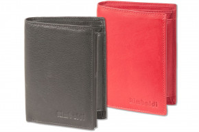Rimbaldi® Bolt purse in portrait made from very soft, untreated cow leather in red
