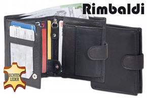 Rimbaldi® Small purse in portrait mode with indoor and outdoor bar made from natural cow leather leather