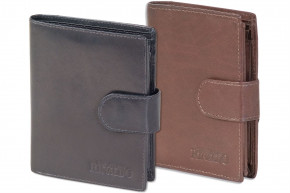 Rinaldo® Universal Women's wallet with outside-loop made with smooth red cow-leather