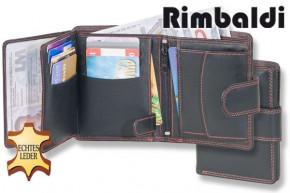 """Rimbaldi® Damen-Riegelgeldbörse im Hochformat """"Red-Line"""" aus Rinder Nappaleder"""