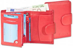 Rimbaldi® Damen-Riegelgeldbörse im Hochformat aus besonders weichem, naturbelassenem Rindsleder in Rot