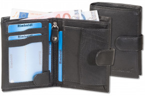 Rimbaldi® Ladies Wallet with outside-loop  portrait made from soft, natural cow leather in black