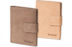 Woodland - Modern universal wallet with outdoor loop made of soft, untreated buff-leather> IN VARIOU