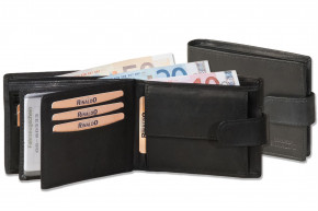Rinaldo® Flat Landscape wallet made from from smooth, untreated cow leather in black