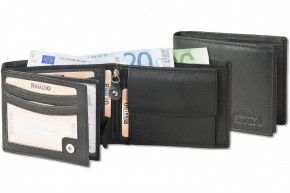 Rinaldo® Landscape leather wallet made of nappa-goat leather in black