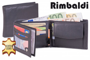 Rimbaldi® Bolt wallet in horizontal format from fine Nappa leather in black