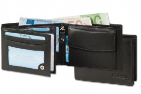 Protecto - Premium transom wallet in landscape format with RFID blocker system from untreated cowhide