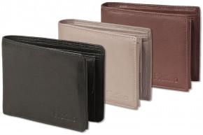 Platino - Riegelgeldbörse im Querformat aus feinstem Rindsleder in First-Class Qualität