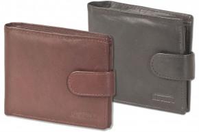 Rinaldo® Querformat-Geldbörse mit Innen- und Außenriegel aus naturbelassenem Rindsleder