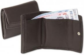 Rinaldo® Kleine Geldbörse mit Hartgeldfach und Geldscheinfach aus weichem Rind Nappaleder in Dunkelbraun