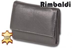 Rinaldo® Geldbörse mit Hartgeldfach und Geldscheinfach aus weichem Rind-Nappaleder in Schwarz