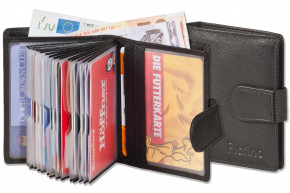 Platino - Super-Compact purse with XXL credit card pockets for 16 cards made of finest natural cow leather