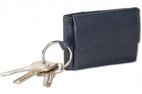 Rinaldo® Micro-wallet in horizontal format with key ring made from soft, untreated cow leather in cow-skin