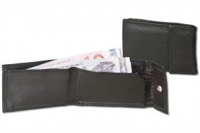 Rinaldo® Micro-Ledergeldbörse aus naturbelassenem Rindsleder in Schwarz