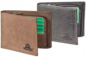Flache Geldbörse aus naturbelassenem Büffelleder von Woodland®