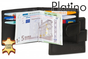 Platino -  Money-Clip - Flat wallet with clip made from the finest, untreated cowhides in first-clas