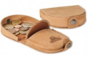 Woodland® Kleine Schüttelbörse aus naturbelassenem, weichem Büffelleder in Cognac